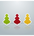 Colored Fir-Trees Object Set of Six vector image vector image