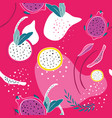 colorful pink seamless background pattern exotic vector image