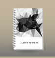cover of diary or notebook black and white vector image vector image