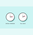 daylight saving time set clock time for spring vector image