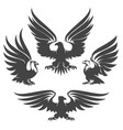 eagle emblem set vector image