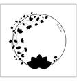 elegant black and white floral frame vector image vector image