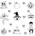 Element zombie halloween in doodle vector image vector image