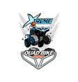 extreme quad bike logo isolated background vector image vector image