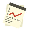 financial graph icon flat style vector image