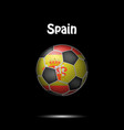 flag of spain in the form of a soccer ball vector image