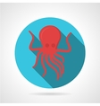 Flat color design octopus icon vector image vector image