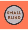 flat icon on stylish background small blind vector image