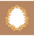 floral baroque frame vector image vector image