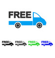 free delivery car flat icon vector image vector image