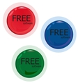 free software set red green blue button vector image vector image