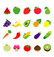 fruit vegetable food healthy vector image