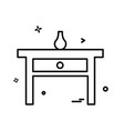 furniture icon design vector image vector image