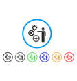 gears mechanics presentation rounded icon vector image