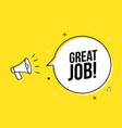 great job promotion work appreciation banner vector image vector image