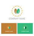 green leaf nature beauty company logo vector image vector image