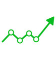 growth trend arrow flat icon vector image vector image