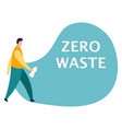 guy cleans garbage man throw empty bottle into vector image vector image