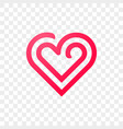 heart logo line abstract creative icon vector image vector image