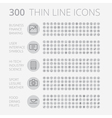 icons line set round thin vector image vector image