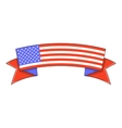 Independence day ribbon icon cartoon style vector image