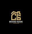 initial letter c and g with roreal estate vector image vector image