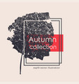 isolated aged black autumn leaf print vector image vector image