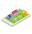 isometric city infrastructure vector image vector image