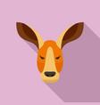 kangaroo icon flat style vector image vector image