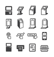 kiosk icon vector image vector image