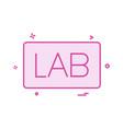 lab board icon design vector image