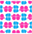 lgbt seamless pattern lesbians kissing background vector image