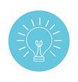 light bulb cartoon vector image vector image