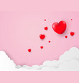 love valentines day background with balloons heart vector image