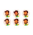 man avatar people facial emotions default vector image