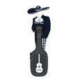 mariachi musician with guitar case vector image