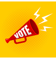 megaphone vote yellow vector image vector image