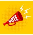 megaphone vote yellow vector image