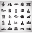 modern and old buildings set on white background vector image