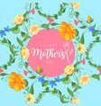 mother s day greeting card with blossom flowers vector image vector image