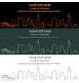 new york event banner hand drawn skyline vector image vector image
