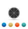orange in a cut citrus fruit icon isolated vector image
