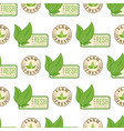 organic vegan healthy food eco restaurant labels vector image vector image