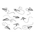 paper airplane flying planes from different vector image vector image