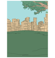 Park Townscape Sketch vector image vector image