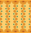 pattern with abstract flowers stripes vector image vector image
