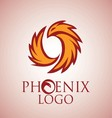 phoenix logo 2 vector image vector image