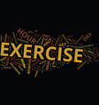 power workout text background word cloud vector image vector image