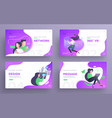 presentation slide templates or hero pages for vector image vector image