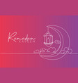 ramadan kareem greeting card poster and banner vector image